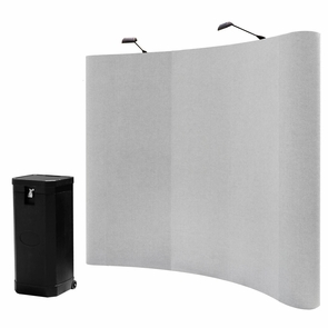 8'x8' Portable Trade Show Display Booth Pop Up Grey w/ Case