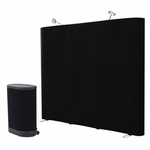 8'x8' Straight Pop Up Display Trade show Booth Black w/ Case