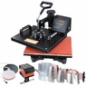 8in1 12x15 Heat Press Transfer Sublimation Machine Black