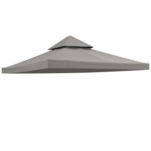 8x8 ft Waterproof Gazebo Canopy Top Replacement Gray