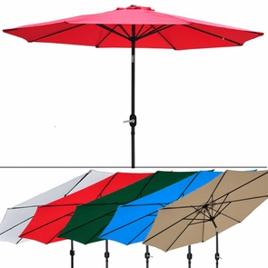 9 Foot Outdoor Patio Tilt Umbrella Furniture Multiple Color Options