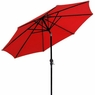 9 Foot Outdoor Patio Tilt Umbrella Furniture Red
