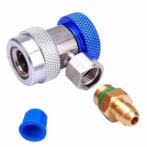 AC R134a Quick Coupler Connector Adapter Blue