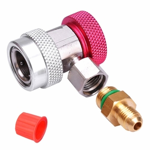 AC R134a Quick Coupler Connector Adapter Red