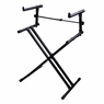 Adjustable X-Style Dual 2-Tier Electronic Piano Keyboard Stand