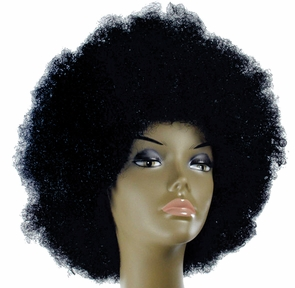 Afro Deluxe Green Kaf4 Costume
