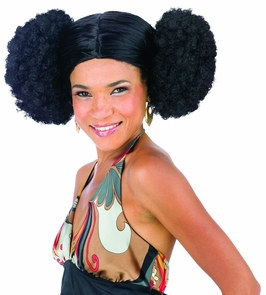 Afro Poof Wig Costume