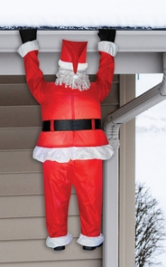 Airblown Santa Hanging From Roof Inflatable Costume
