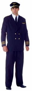 Airline Captain Adult Black Xx Costume