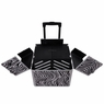 Aluminum Pro Rolling Train Cosmetic Makeup Case Zebra