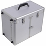 Aluminum Rolling Salon Hair Stylist Train Case Silver