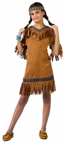 American Indian Girl Child Sm Costume