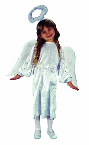 Angel White Velvet Toddler Costume