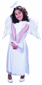 Angel Wings Feathr Chld Wht Costume