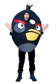 Angry Birds Black Adult Os Costume