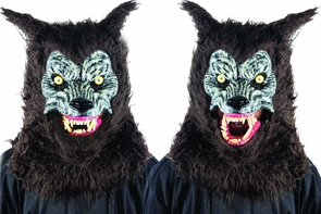 Animated Animal Brown Werewolf Mask Costume