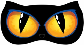 Animated Lighted Cat Eyes Costume