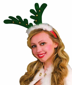 Antlers With Bells Headband Costume