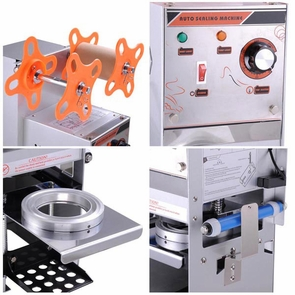 Semi Automatic Bubble Tea Boba Cup Sealer Sealing Machine