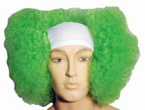 Bald Curly Clown Wt Front Gr Costume