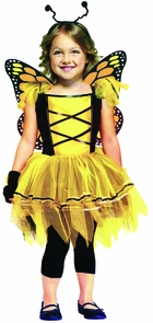 Ballerina Butterfly Gld 3t-4t Costume
