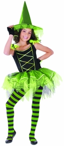 Ballerina Witch Green Chld Med Costume
