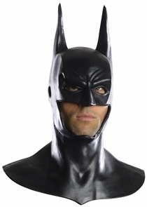 Deluxe Batman Latex Mask With Cowl - Arkham City Costume
