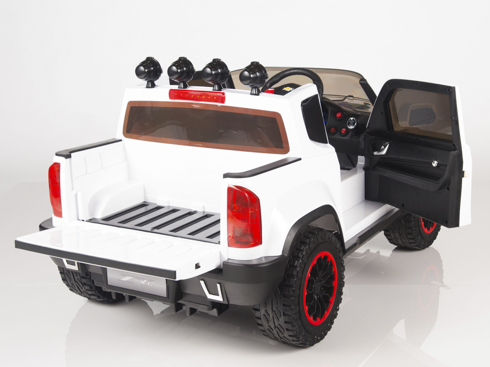 Magic Cars Chevy Style Battery Ed 12 Volt Ride On Remote Control Truck For Kids W Stereo