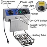 Best Dual Tank Stainless Steel Electric Deep Fryer w/Drain