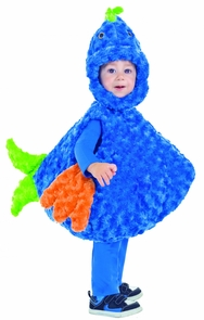 Big Mouth Blue/gr Fish 18-24t Costume