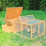 Big Poultry Chicken Coop Wood Hen House W/Run
