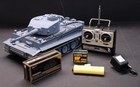 Big Remote Control (RC) Tank W/Metal Treads & Smoke Function