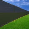 Black 6'x 50' Privacy Screen Fence Construction Residential 90%