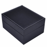 Black Leather 4 Watch Display Case Ring Tray Jewelry Box