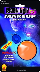 Blacklight Makeup Orange Glow Costume
