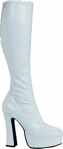 Boot Chacha White Size 8 Costume