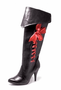 Boot Pirate W Ribbons Size 8 Costume