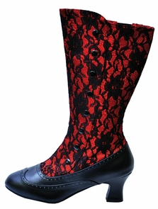 Boot Spooky Red Size 9 Costume