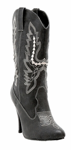 Boots Cowgirl Bk Sz 8 Costume