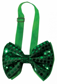 Bow Tie Green Sequin Light Up Costume
