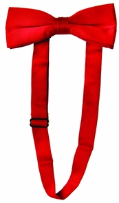 Bow Tie Satin Band Red Costume