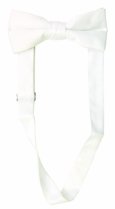 Bow Tie Satin Band White Costume