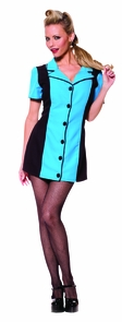 Bowling Dress Turquoise Lg Costume