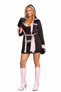 Boxer Girl 3x To 4x Costume