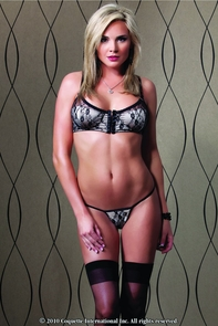 Bra And G-string Floral Print Costume