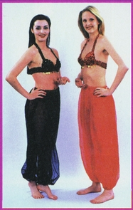 Bra Belly Dance Red C Cup Costume