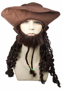 Buccaneer Johnny With Hat Blac Costume