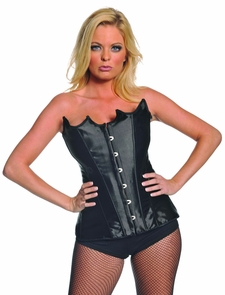 Bustier Black Pointed Xlarge Costume