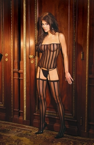 Bustier G String Set Black Costume