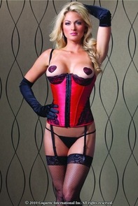 Bustier Red And Black Medium Costume